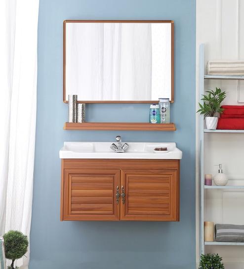 JJ Sanitaryware Aluminium Yellow Teak Bathroom Vanity (Model:JJv-9)