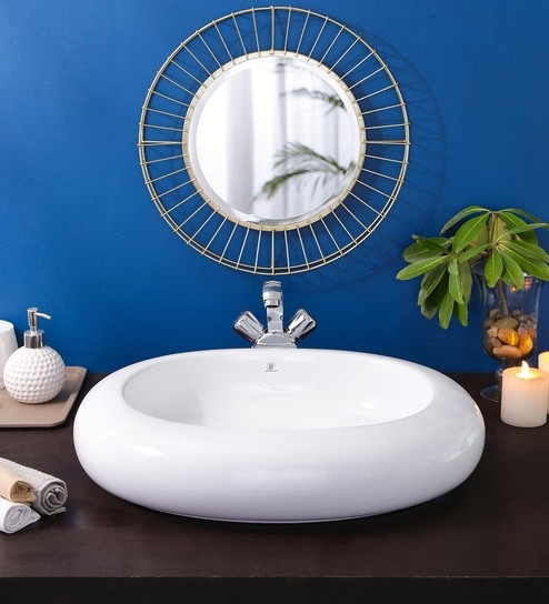 JJ Sanitaryware Ceramic White Bathroom Wash Basin - 1675004