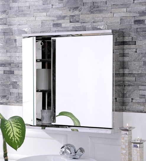 Lana Stainless Steel Bathroom Mirror Cabinet by JJ Sanitaryware : stainless steel mirror cabinet bathroom - Cheerinfomania.Com