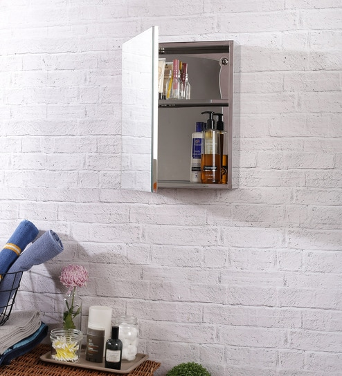 Lazzaro Stainless Steel Bathroom Mirror Cabinet By JJ Sanitaryware