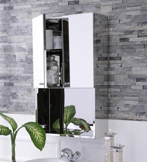 Buy Lena Stainless Steel Bathroom Mirror Cabinet By JJ Sanitaryware Online