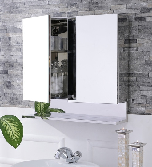 Leonardo Stainless Steel Bathroom Mirror Cabinet by JJ Sanitaryware : stainless steel mirror cabinet bathroom - Cheerinfomania.Com