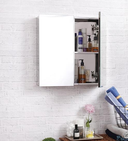 Lucas Stainless Steel Bathroom Mirror Cabinet By JJ Sanitaryware
