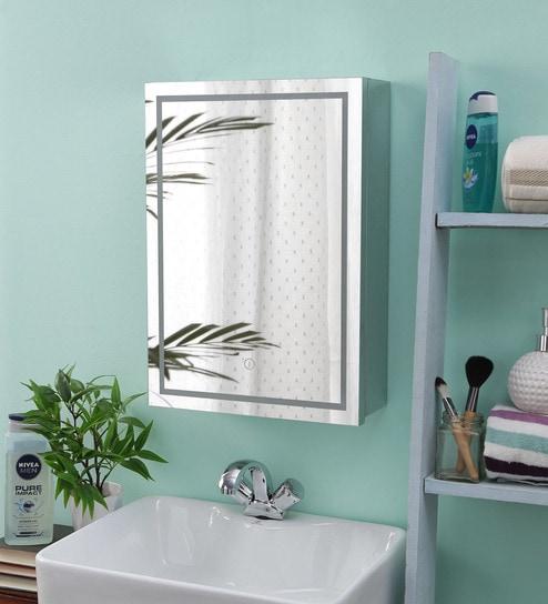 Jj Sanitaryware Stainless Steel Silver Chrome Bathroom Cabinet