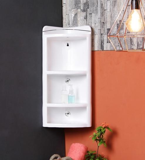 White Plastic Bathroom Cabinet By Jj Sanitaryware