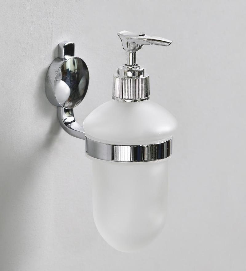 JJ Sanitaryware Golden Brass 6.8 x 3 x 9.8 Inch Soap Dispenser Holder