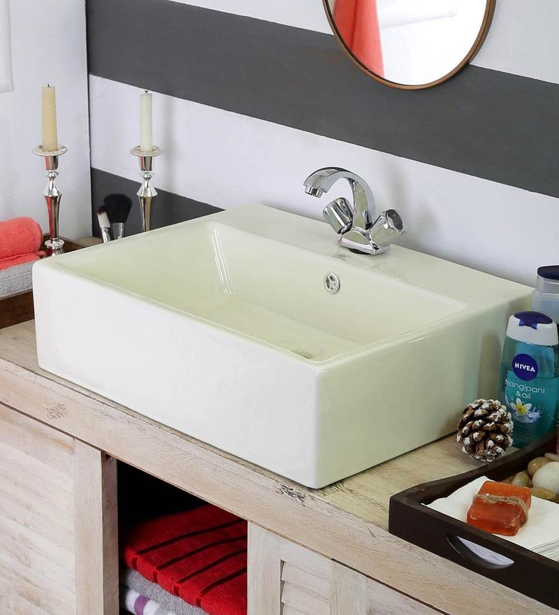 JJ Sanitaryware Camilla Acb-302 Ivory Ceramic Wash Basin
