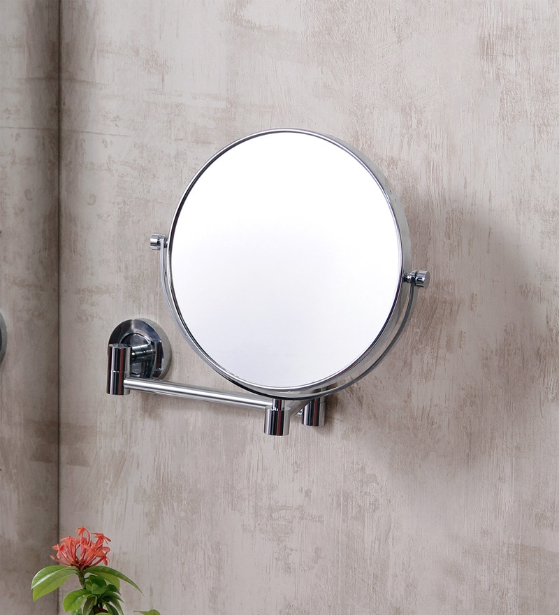 JJ Sanitaryware MF-18 Chrome  Brass Shaving Mirror
