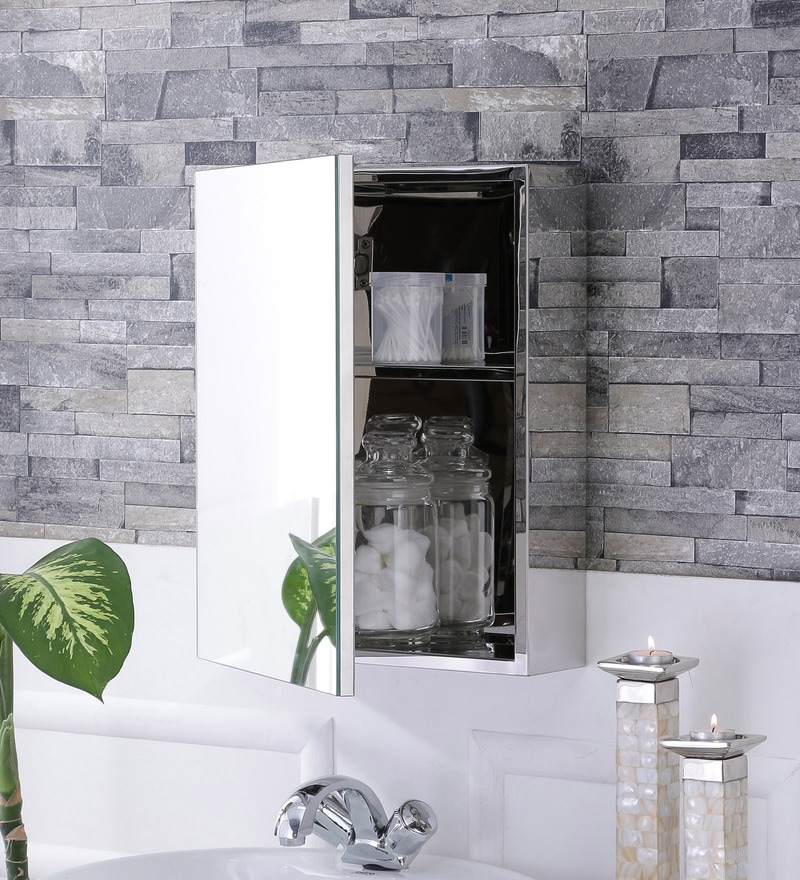 Lazzaro Stainless Steel Bathroom Mirror Cabinet By Jj Sanitaryware Online Cabinets Bath Laundry Pepperfry Product