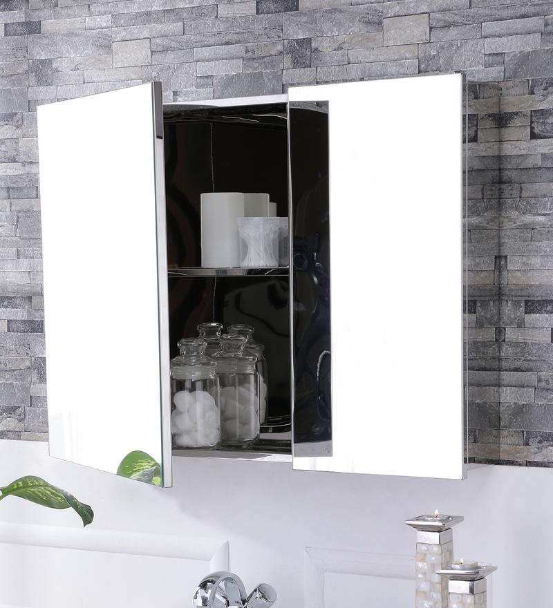 Buy Leon Stainless Steel Bathroom Mirror Cabinet By JJ Sanitaryware Online