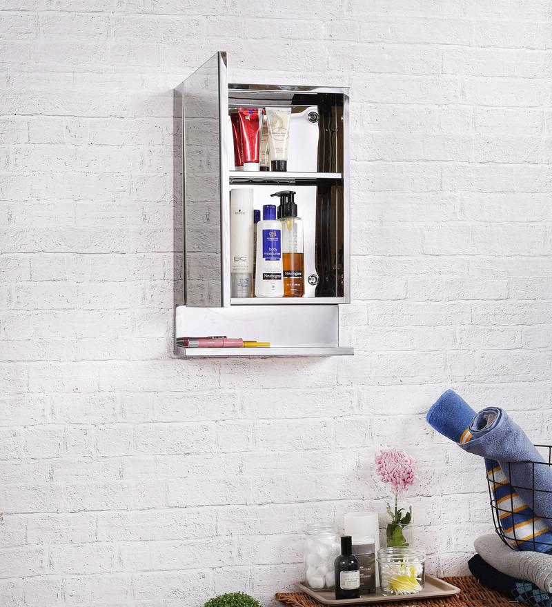 Buy JJ Sanitaryware Lucia Stainless Steel Bathroom Mirror Cabinet Online
