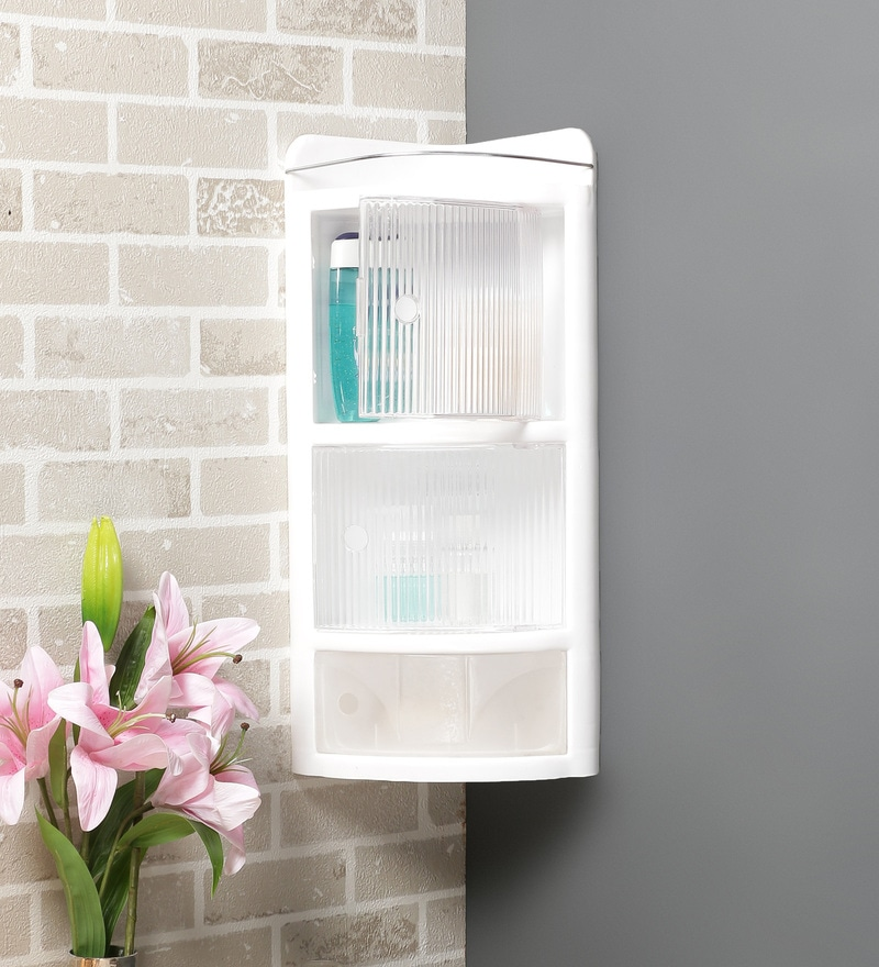 White Plastic Cabinet by JJ Sanitaryware