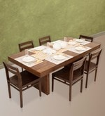 Jordan-Barcelona Six Seater Dining Set in Provincial Teak Finish