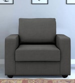 Jordana One Seater Sofa in Royal Grey Colour