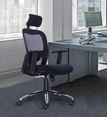 Jordon High Back Chair in Black Colour