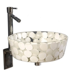 Joyo Cera Resin Designer White Wash Basin With Stand