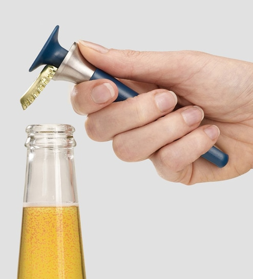 Joseph Joseph Bar Wise Any-Way Bottle Opener Blue Stainless Steel