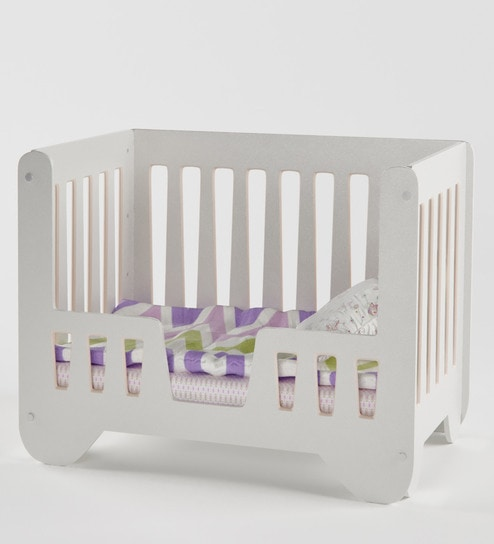 Buy Joy Crib In Pink With Daybed Railing By Boingg Online Cribs