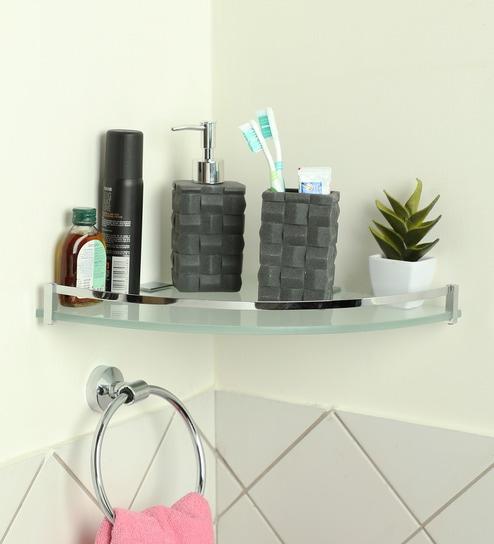 Corner Shelf With Chrome Plated Br