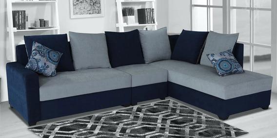 Jordan Lhs Sectional Sofa In Blue, Living Room Sofas
