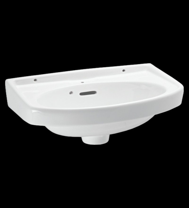 Johnson Iris-Wb White Ceramic Wash Basin