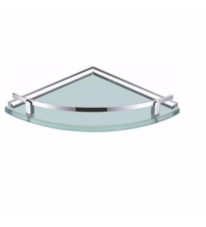 Buy Joyo Cera Chrome Finish Frosted Glass 12 x 12 Inch Corner ...