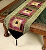Jodhaa Geometric Multicolour Velvet Table Runner