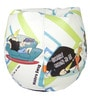Johnny Bravo Digital Printed Filled Bean Bag in Multicolour by Orka