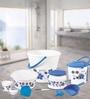 Joy Home Large Gamma Premium Foil PPR Plastic Multicolour Bathroom Set - Set of 20