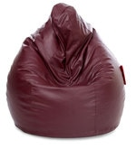 Jumbo SAC XXXL Bean Bag with Beans in Maroon Colour