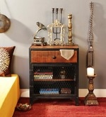 Jundee Bedside Table in Dual Tone Finish