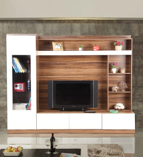 brand new 0d592 ac269 Julian Tv Unit in High Gloss Apple Wood Finish by Hometown