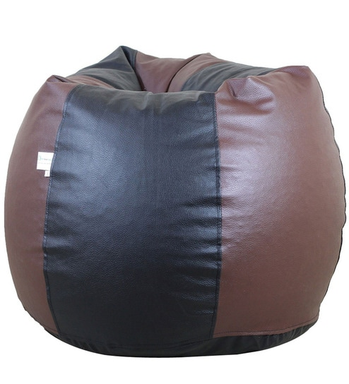 Peachy Classic Jumbo Bean Bag Only Cover In Black And Brown Colour By Orka Alphanode Cool Chair Designs And Ideas Alphanodeonline