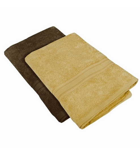 Buy Just Linen Chocolate Cotton 24 X 48 Bath Towel Set Of 2 Online