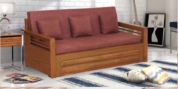 Fantastic Juniper Three Seater Sofa Cum Bed With Storage In Natural Finish By Trendsbee Evergreenethics Interior Chair Design Evergreenethicsorg