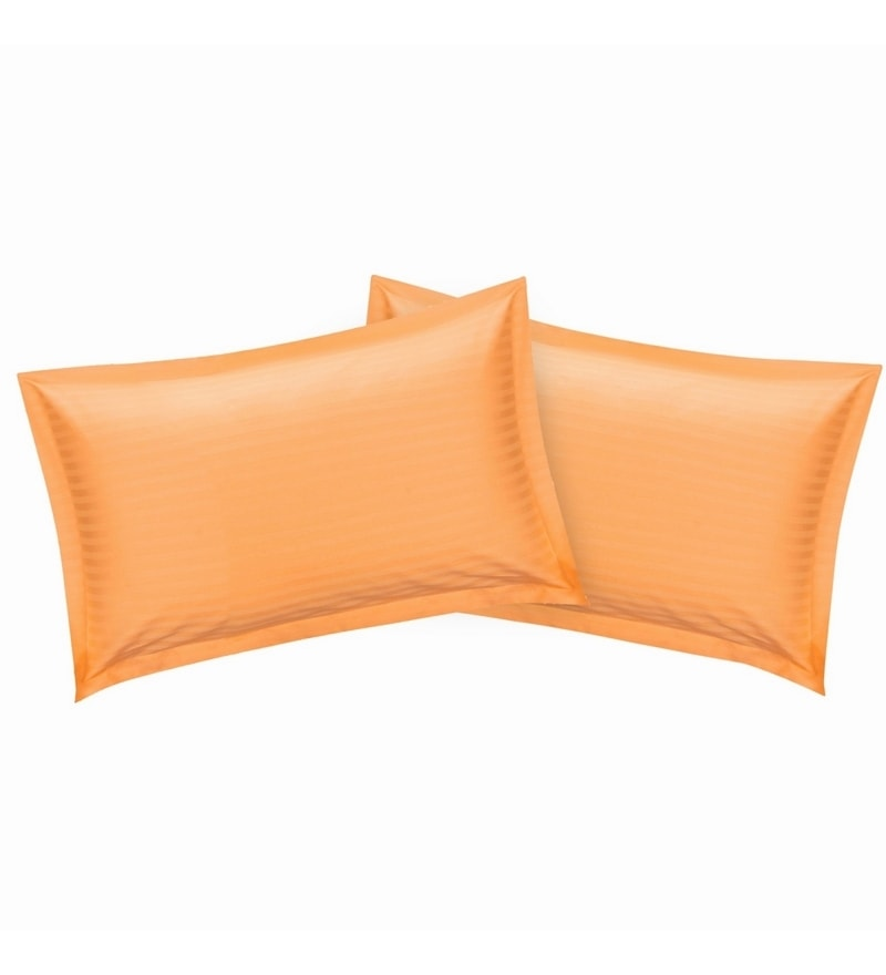 Peach Cotton 18 x 27 Pillow Cover - Set of 2 by Just Linen