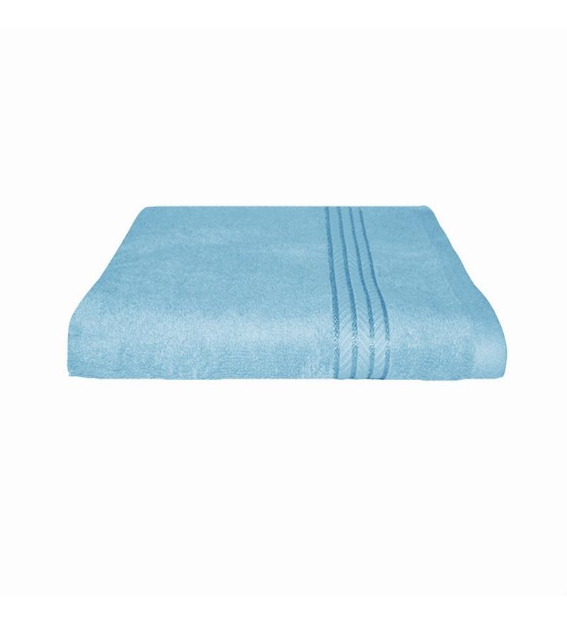 Sky Blue Cotton 30 x 60 Bath Towel by Just Linen