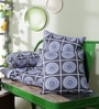 Multicolour 100% Cotton 16 x 16 Inch Durable Cushion Covers - Set of 5 by Just Essential