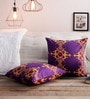 S Mauve 100% Cotton 16 x 16 Inch Cushion Covers - Set of 2 by Just Essential