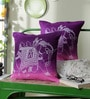 Multicolour Cotton 16 x 16 Inch Ethnic Cushion Covers - Set of 2 by Just Essential