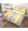 Multicolour Cotton King Size Flat Bedsheet - Set of 3 by Just Linen