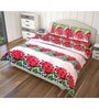 Just Linen Multicolour Cotton Queen Size Flat Bedsheet - Set of 3