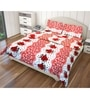 Multicolour Polyester Queen Size Flat Bedsheet - Set of 3 by Just Linen