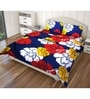 Multicolour Polyester Single Size Flat Bedsheet - Set of 4 by Just Linen