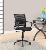 Kabul Mid Back Ergonomic Chair in Black Colour