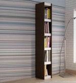 Kaiya Book Shelf in White & Tobacco Finish