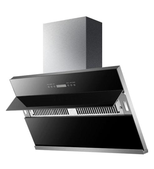 Buy Kaff Nobelo 90 cm Touch Designer Chimney in Black Online - Hood ...