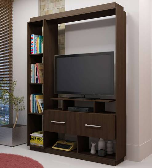 Buy Kagami TV Unit in Tobacco Finish by Mintwud Online - Modern TV ...