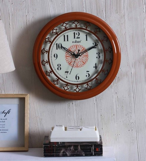 961f85011e Buy Brown Wood Wall Clock by Kaiser Online - Indian Ethnic Wall ...