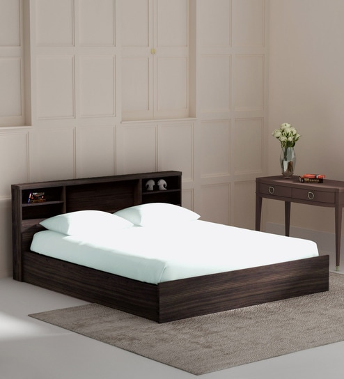 buy kaito king size bed with box storage in wenge finish by mintwud online modern king sized. Black Bedroom Furniture Sets. Home Design Ideas